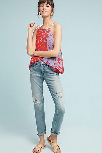 Pilcro Mid-Rise Slim Boyfriend Jeans