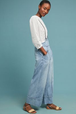 Pilcro Bibbed Denim Pants by Pilcro And The Letterpress