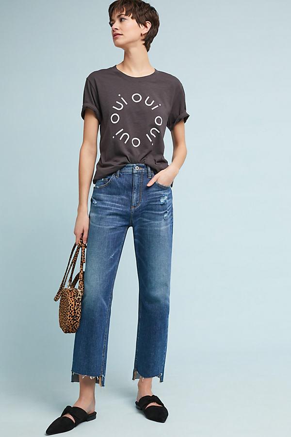 Pilcro High-Rise Slim Boyfriend Cropped Jeans - Blue, Size 29