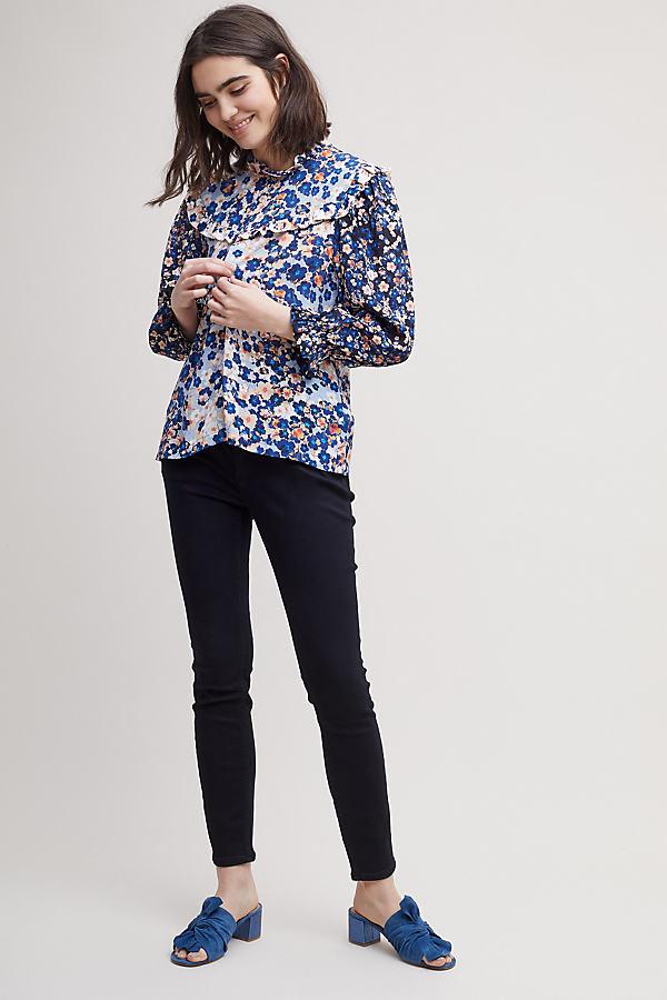 Pilcro High-Rise Skinny Jeans - Black, Size 25