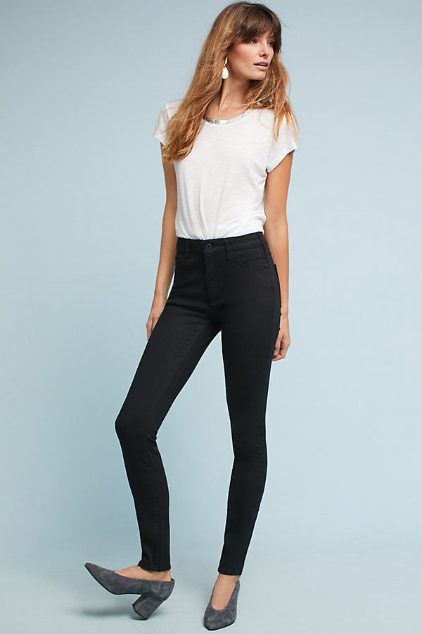 Pilcro High-Rise Skinny Jeans - Black, Size 25