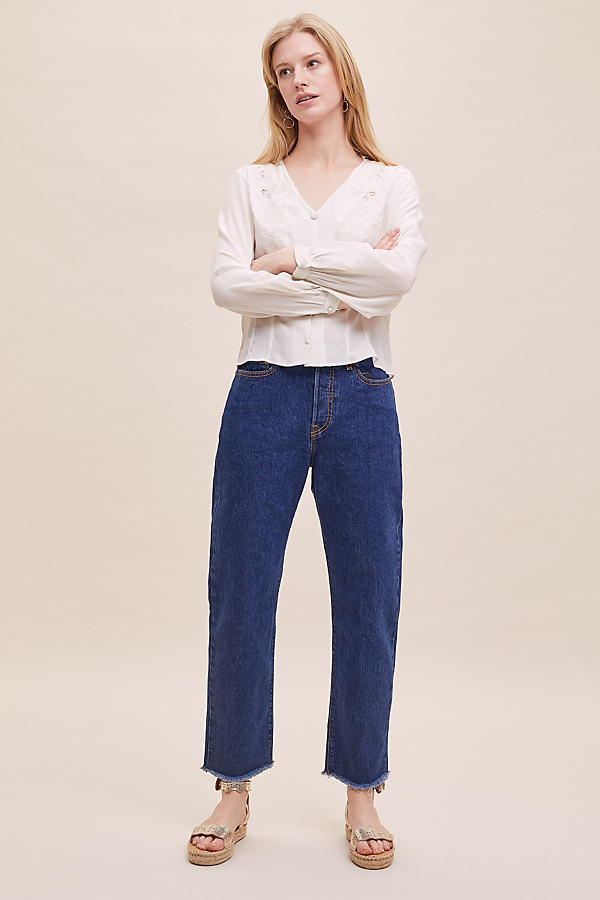 Levi's Wedgie High-Rise Straight Jeans - Blue, Size 25