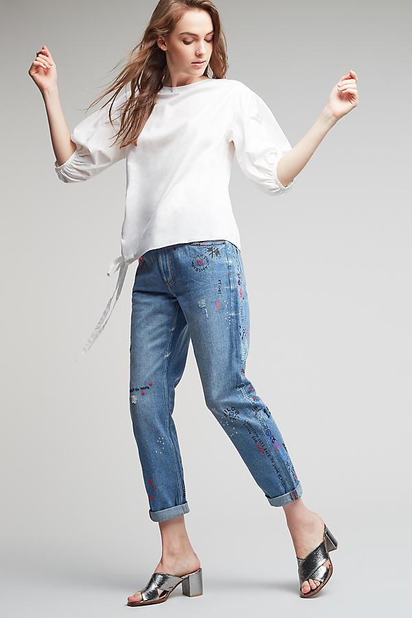 Anaise Cuffed Boyfriend Jeans - Denim Dark, Size 31