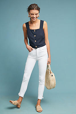 Slide View: 1: McGuire Bella High-Rise Skinny Slit Ankle Jeans