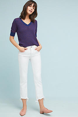 Slide View: 1: McGuire Valetta Mid-Rise Cropped Jeans