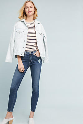 Slide View: 1: McGuire Newton High-Rise Cropped Skinny Jeans