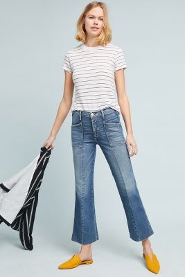Mc Guire Bad Liar High Rise Cropped Flare Jeans by Mc Guire