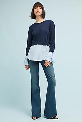 Slide View: 2: McGuire Voyage High-Rise Flared Jeans