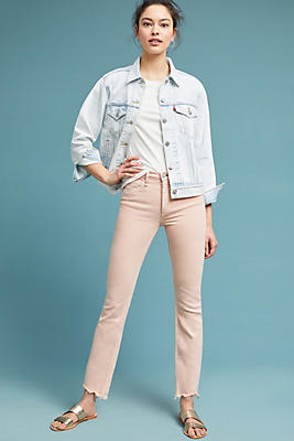 Slide View: 1: McGuire Valetta High-Rise Cropped Straight Jeans