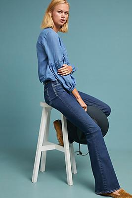 Slide View: 1: McGuire Majorelle Mid-Rise Flare Jeans