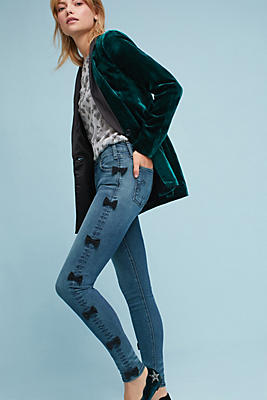 Slide View: 1: McGuire Newton Mid-Rise Skinny Cropped Jeans