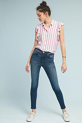 Slide View: 1: McGuire High-Rise Skinny Jeans