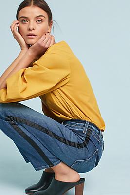 Slide View: 1: McGuire Striped Vintage Mid-Rise Slim Jeans