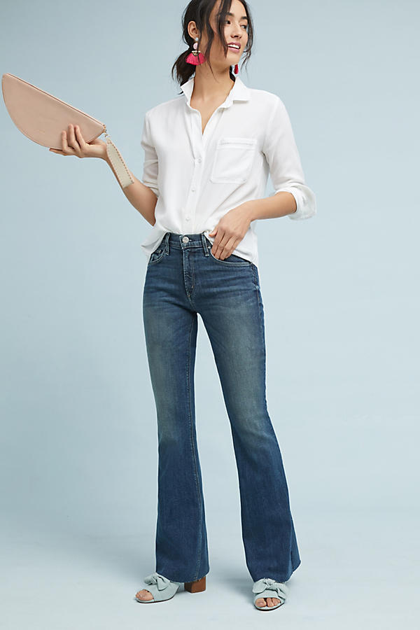 Slide View: 1: McGuire Majorelle Mid-Rise Flare Jeans