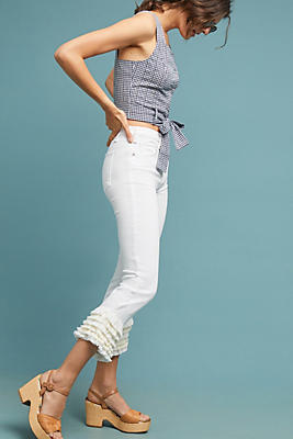 Slide View: 1: McGuire Cha Cha High-Rise Straight Cropped Jeans