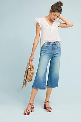 Slide View: 1: McGuire Bessette High-Rise Culotte Jeans