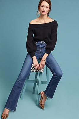 Slide View: 1: McGuire Gainsbourg Mid-Rise Cropped Bootcut Jeans