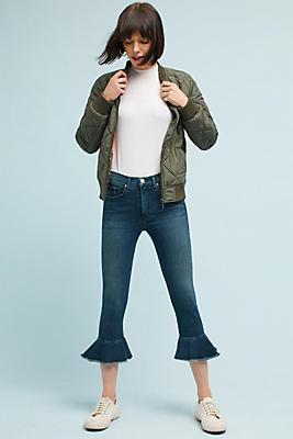 Slide View: 1: McGuire Bohemia Mid-Rise Flounced Jeans