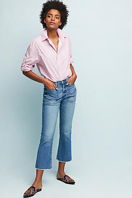 Slide View: 1: McGuire Sorry Not Sorry High-Rise Cropped Flare Jeans