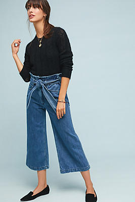 Slide View: 1: McGuire Fonda High-Rise Cropped Wide-Leg Jeans