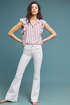 Slide View: 1: McGuire Majorelle High-Rise Flare Jeans