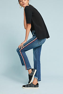 Slide View: 1: McGuire Ibiza Mid-Rise Skinny Cropped Jeans