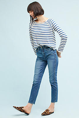 Slide View: 1: McGuire Vintage High-Rise Ankle Jeans
