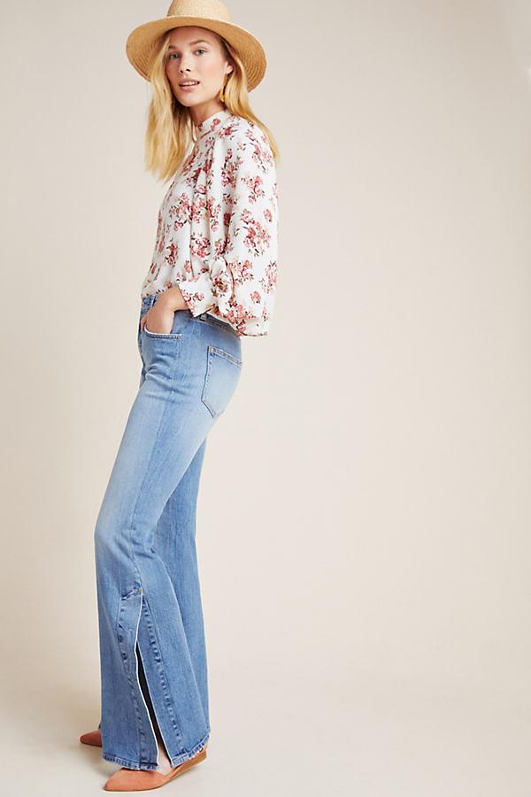 Pilcro Ultra High-Rise Bootcut Jeans - Vintage Denim Light, Size 28
