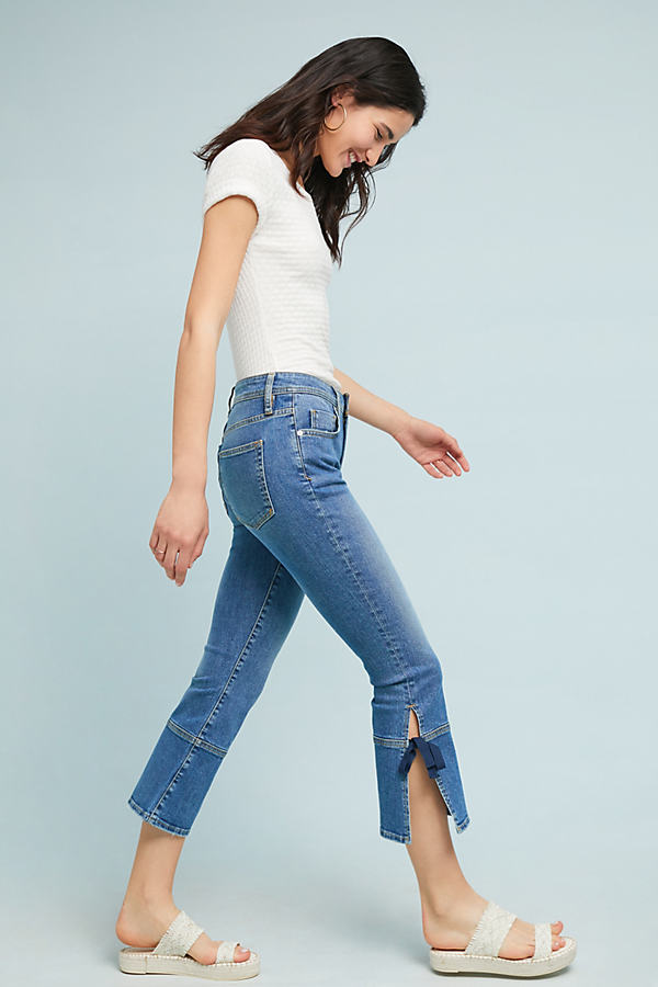 Pilcro High-Rise Cropped Flare Jeans - Blue, Size 29