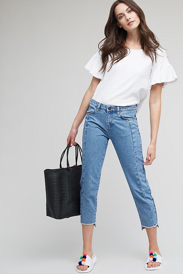 Jones Cropped Step Hem Jeans, Light Blue - Blue, Size 30