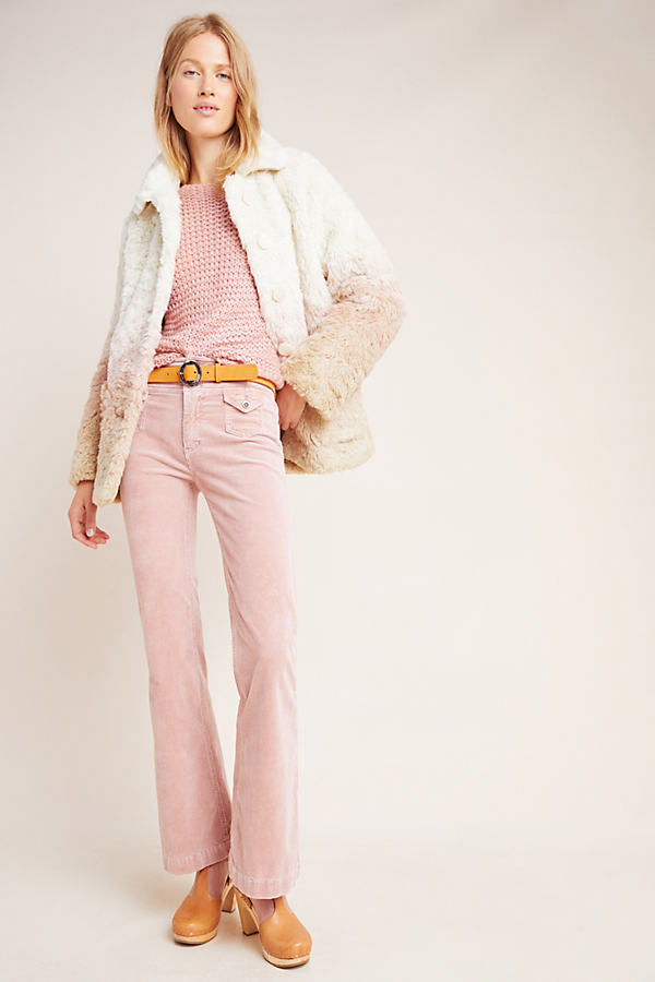 Pilcro High-Rise Bootcut Corduroy Jeans - Pink, Size 29