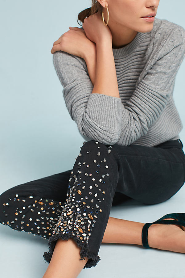 Pilcro Mid-Rise Slim Straight Jeans - Black, Size 26