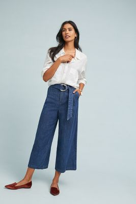 Pilcro Ultra High Rise Wide Leg Jeans by Pilcro And The Letterpress