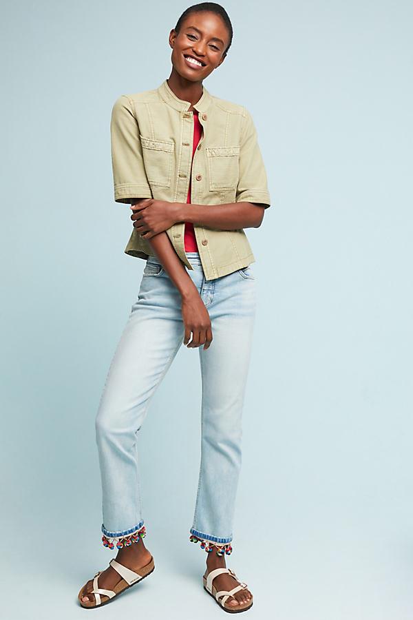 Pilcro Pommed High-Rise Slim Straight Jeans - Blue, Size 31