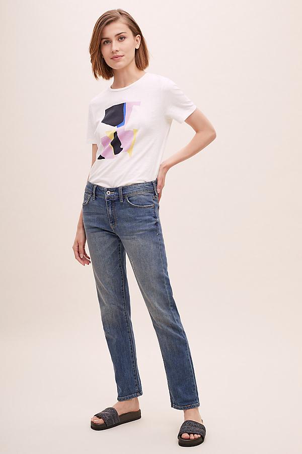 Jenna Slim Boyfriend Jeans - Blue, Size 28