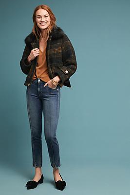 Slide View: 1: AMO Pixie Mid-Rise Slim Jeans