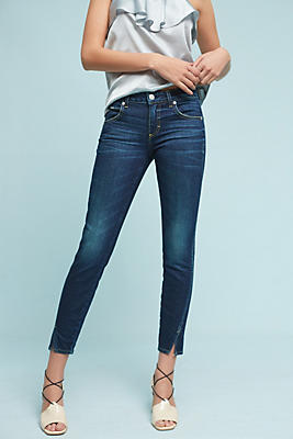 AMO Twist Mid-Rise Skinny Cropped Jeans | Anthropologie