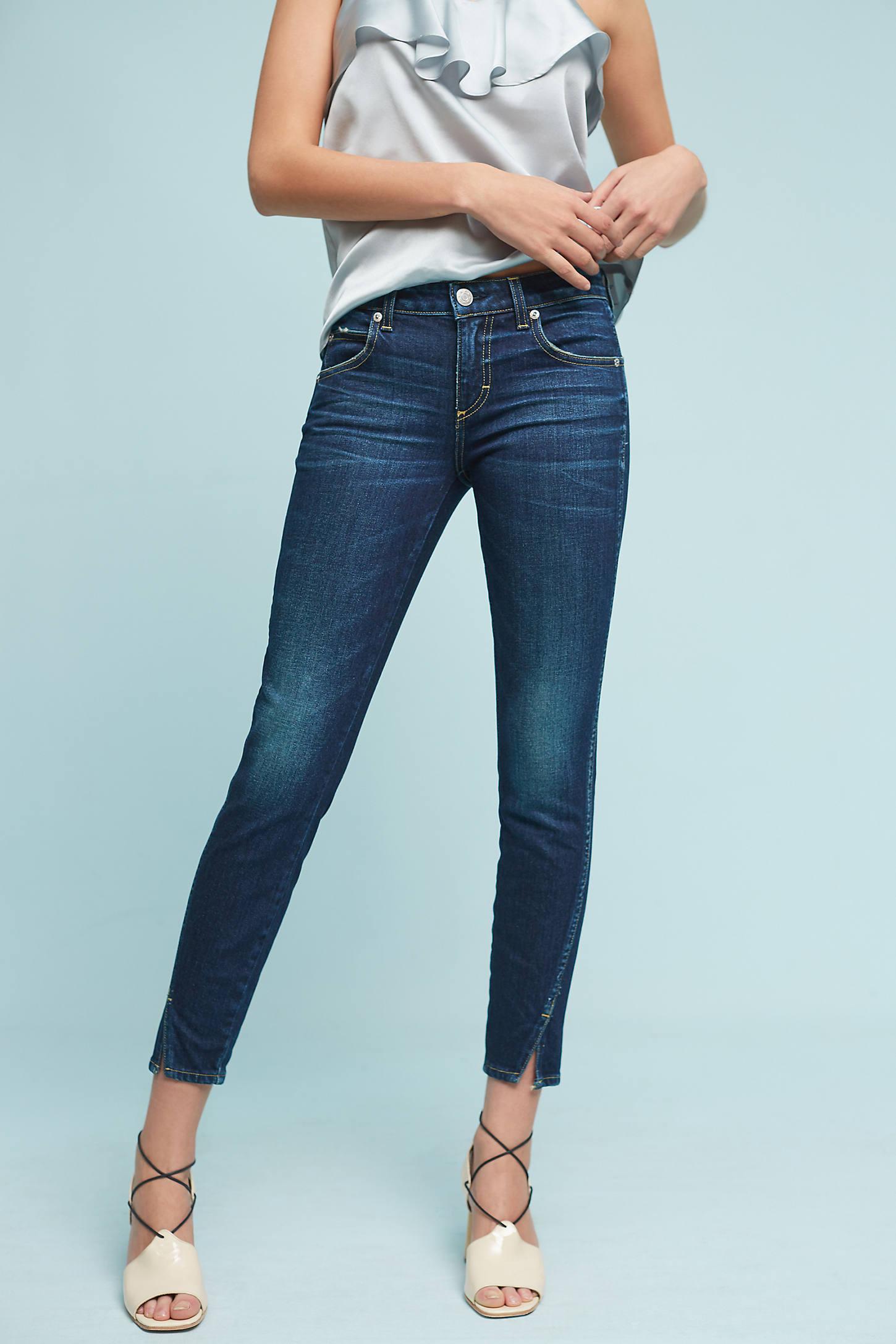 AMO Twist Mid-Rise Skinny Ankle Jeans