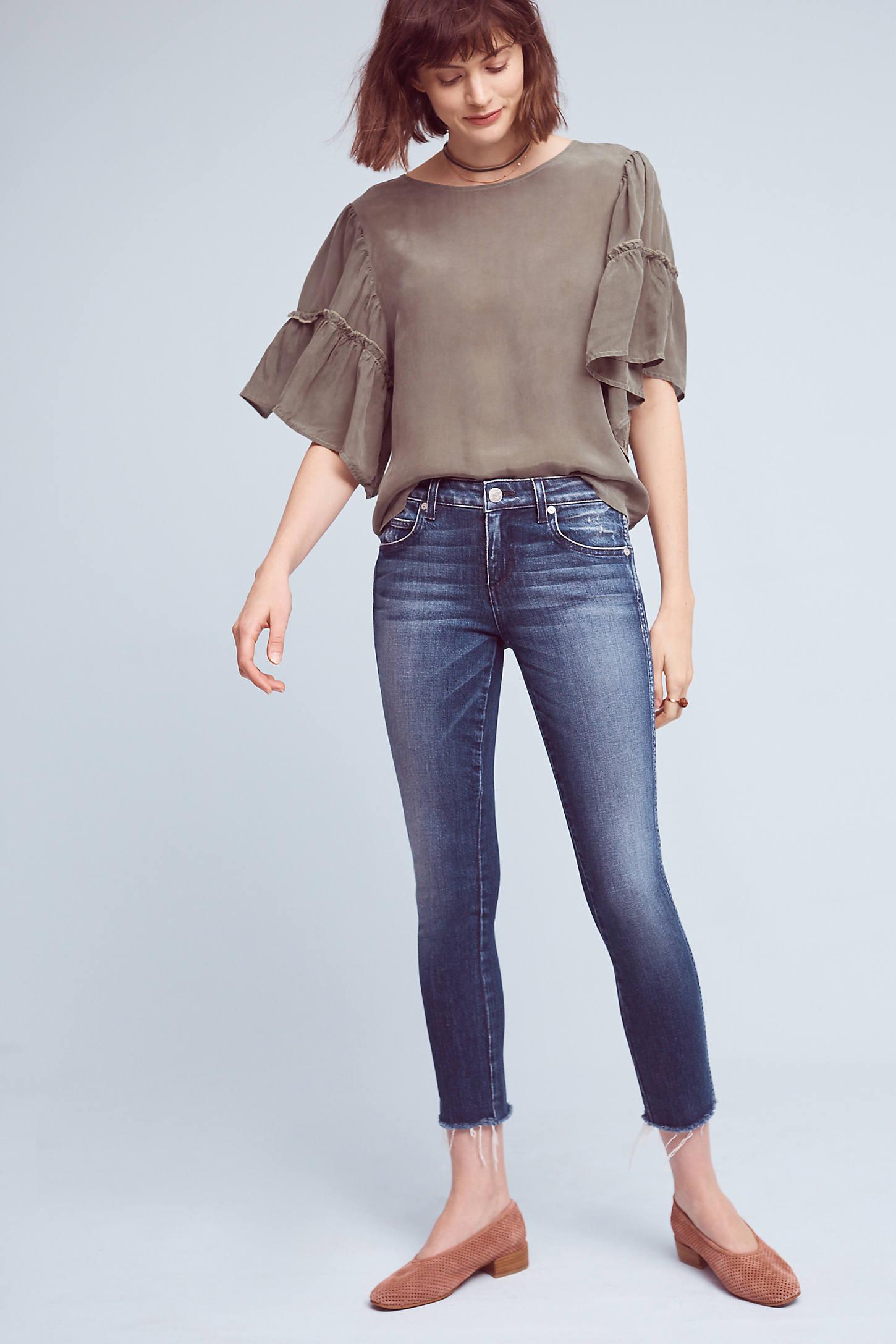 AMO Stix Mid-Rise Cropped Skinny Jeans