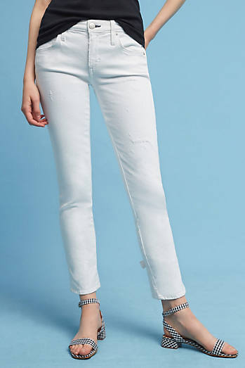 AMO Bow Mid-Rise Ankle Jeans