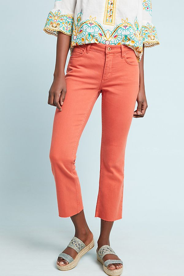 Slide View: 3: Pilcro High-Rise Cropped Bootcut Jeans