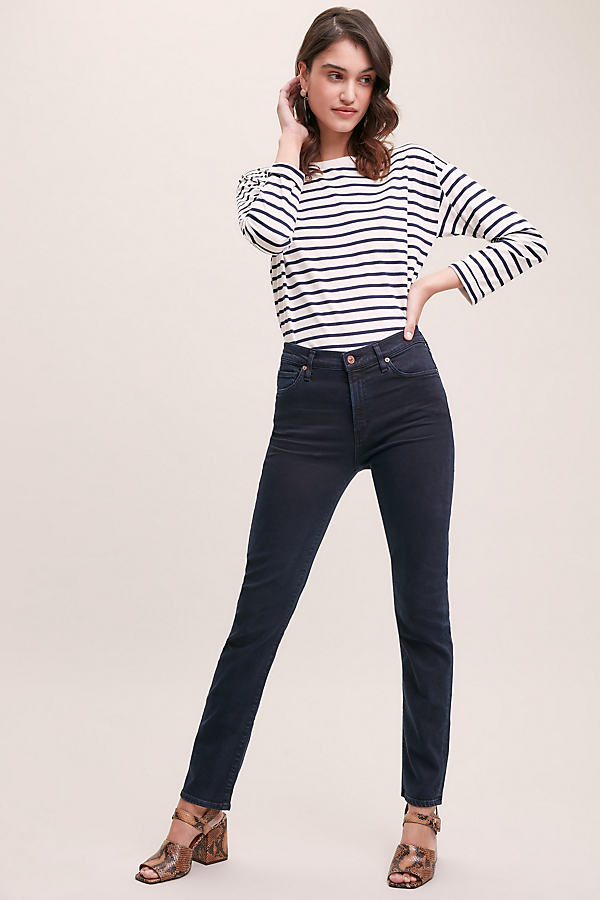 Citizens of Humanity Harlow Inkwell High-Rise Slim Jeans - Blue, Size 26