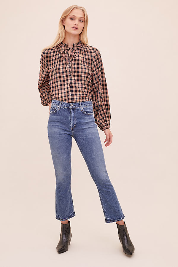 Citizens of Humanity Demy Cropped-Flared Jeans - Blue, Size 28