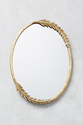 Slide View: 1: Olive Leaf Mirror