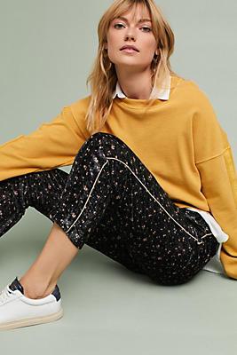 Slide View: 1: Printed Velvet Trousers