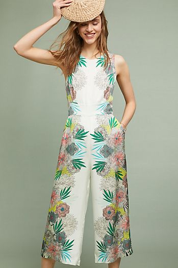 Wedding guest dresses anthropologie corey lynn calter bloome jumpsuit junglespirit