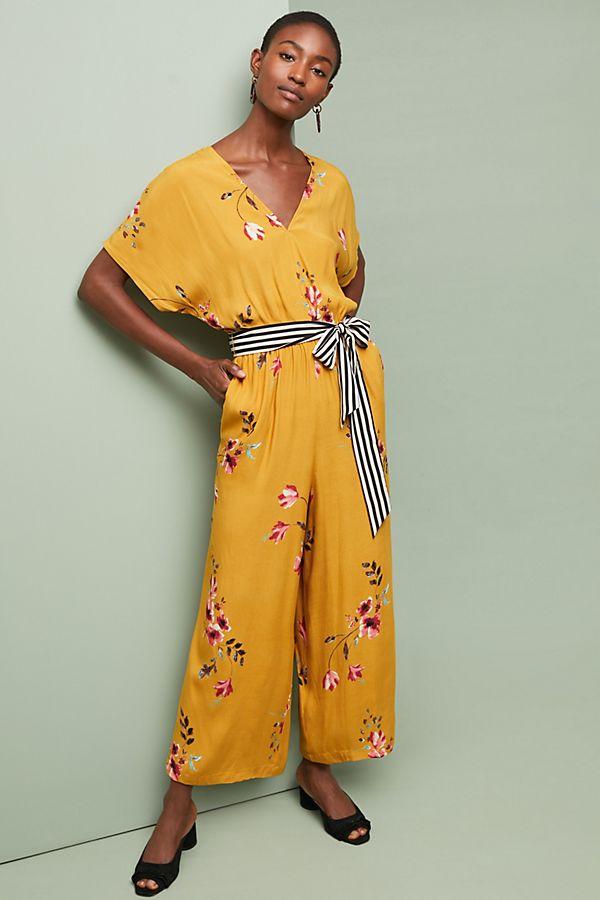 fc302af466f Corey Lynn Calter Floral Jumpsuit. Pink Cotton Knitwear Anthropologie