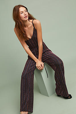 Slide View: 1: Corey Lynn Calter Madga Striped Jumpsuit