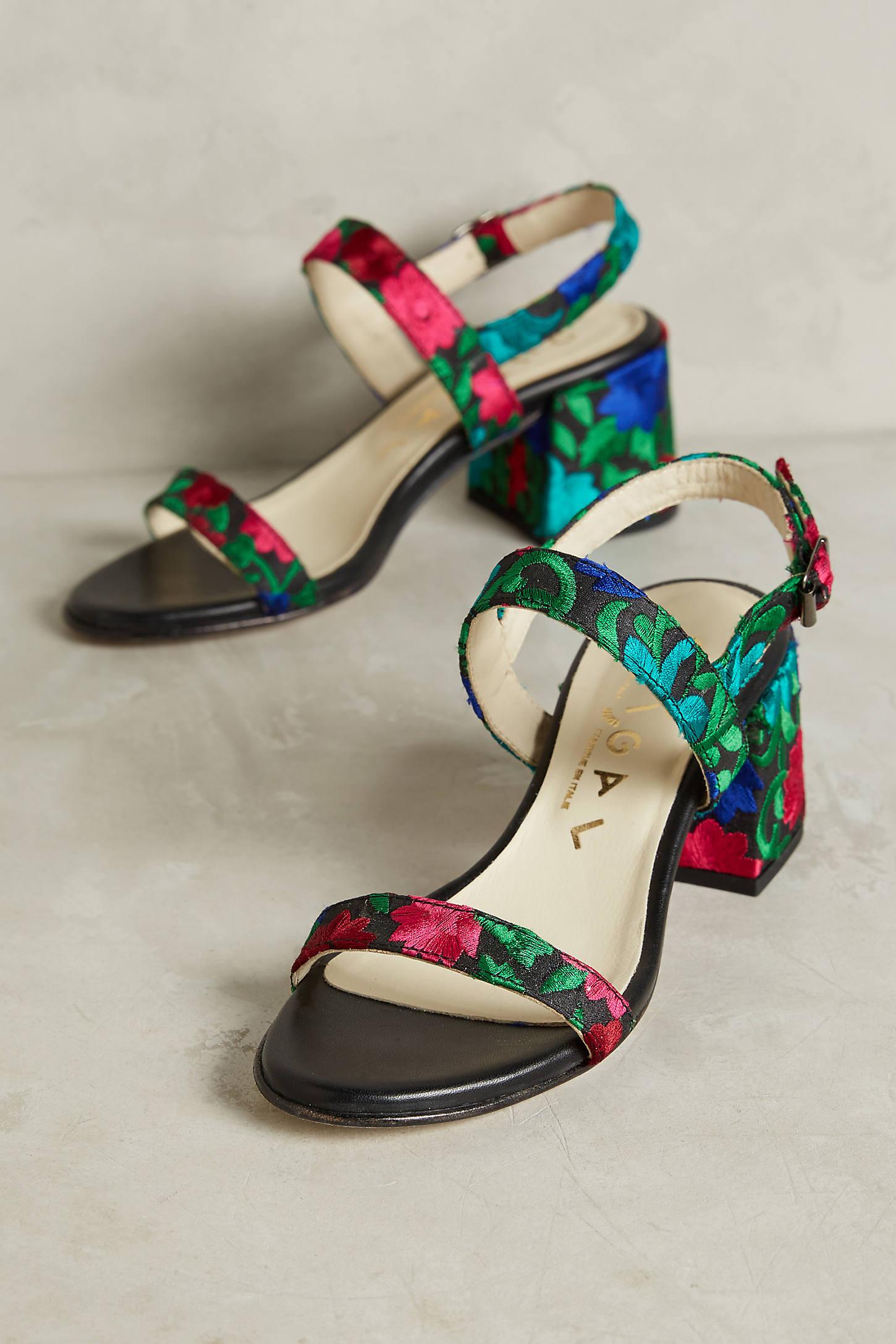 Ouigal Pearl Block Heels