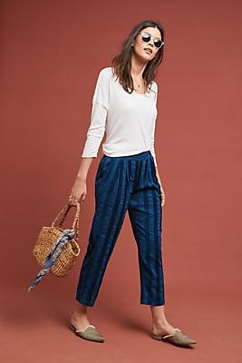Slide View: 1: Plush Striped Pants